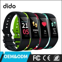 DIDO OEM/ODM RIX Color Screen sports watch with heart rate monitor fitness bracelet