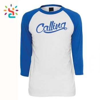 f9d72267 Raglan two tone t shirt printing monogram white and royal blue tee shirts  100% cotton