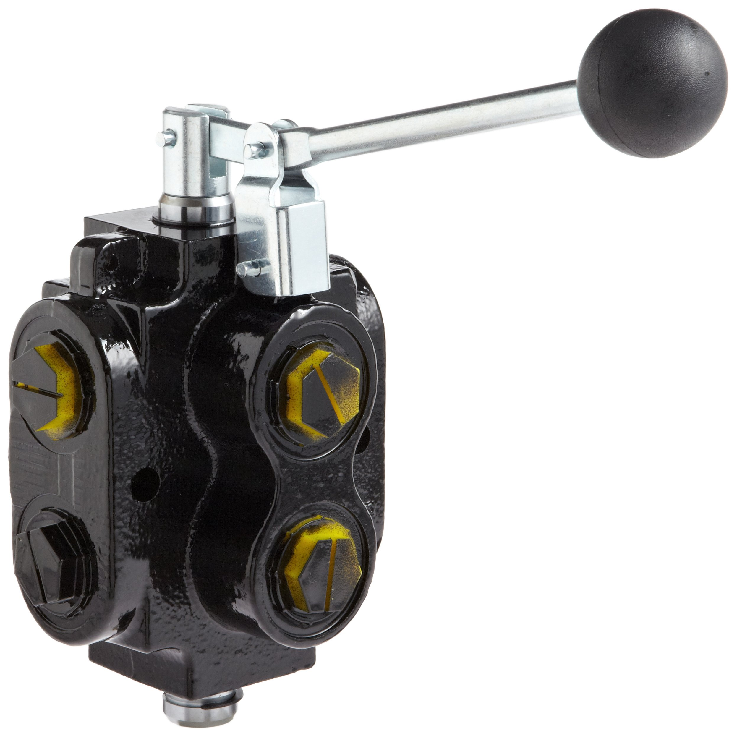 Prince DS-5A1E Directional Control Valve, Monoblock, Cast Iron, 1 Spool, 6 Ways, 2 Positions, Lever Handle, 2500 psi, 40 gpm, #12 SAE