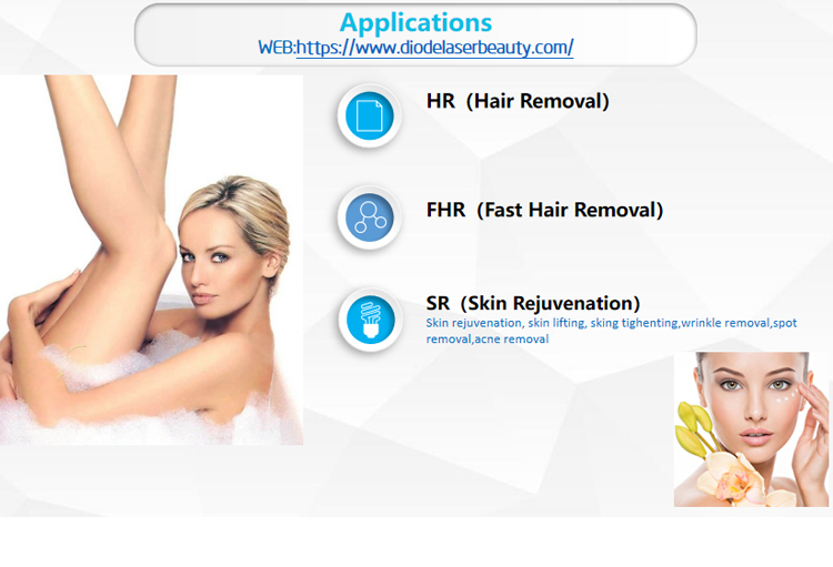 Two-in-one diode laser micro channel laser hair removal with Germany laser bar