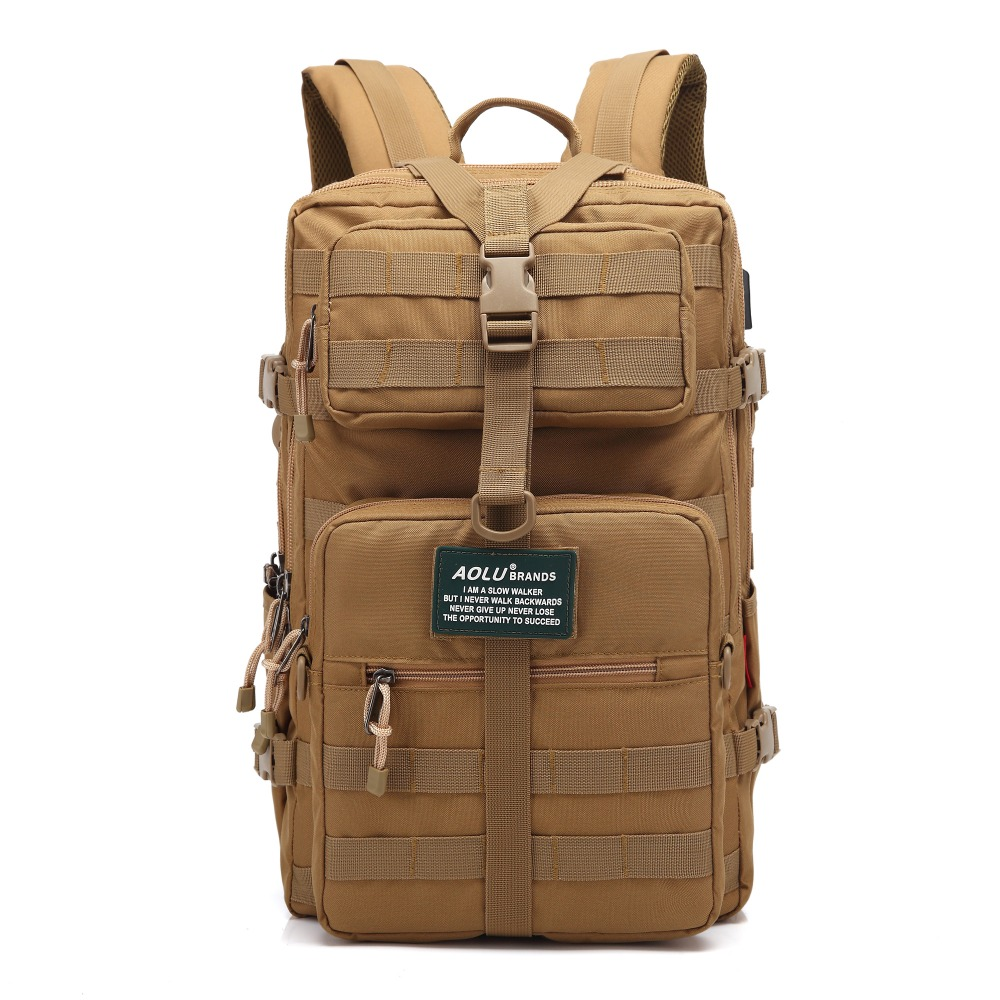 2017 AOLU military travelling hiking backpack bags special solider bug out bag