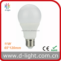 11W 880lm E27 A65 Led Lamp 220V 240V Warm White Natural White Cool White with CE ROHS
