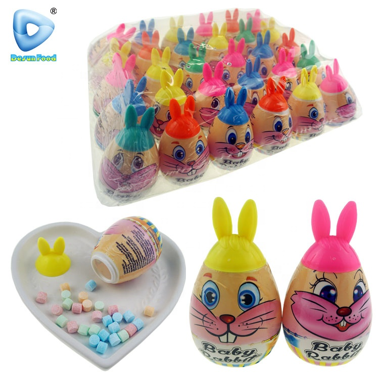 Lovely rabbit surprise egg toy candy