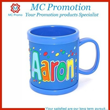 Kids Personalized Plastic Coffee Cups Mugs With Lid