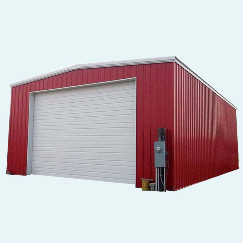 Cheap Cost Metal Steel Garage /A-frame roof type for 2 cars