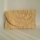 Natural Cornhusk Handwoven Straw Clutch bag