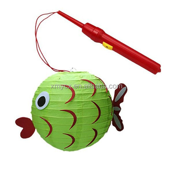 DIY children gifts decoration fish paper lantern