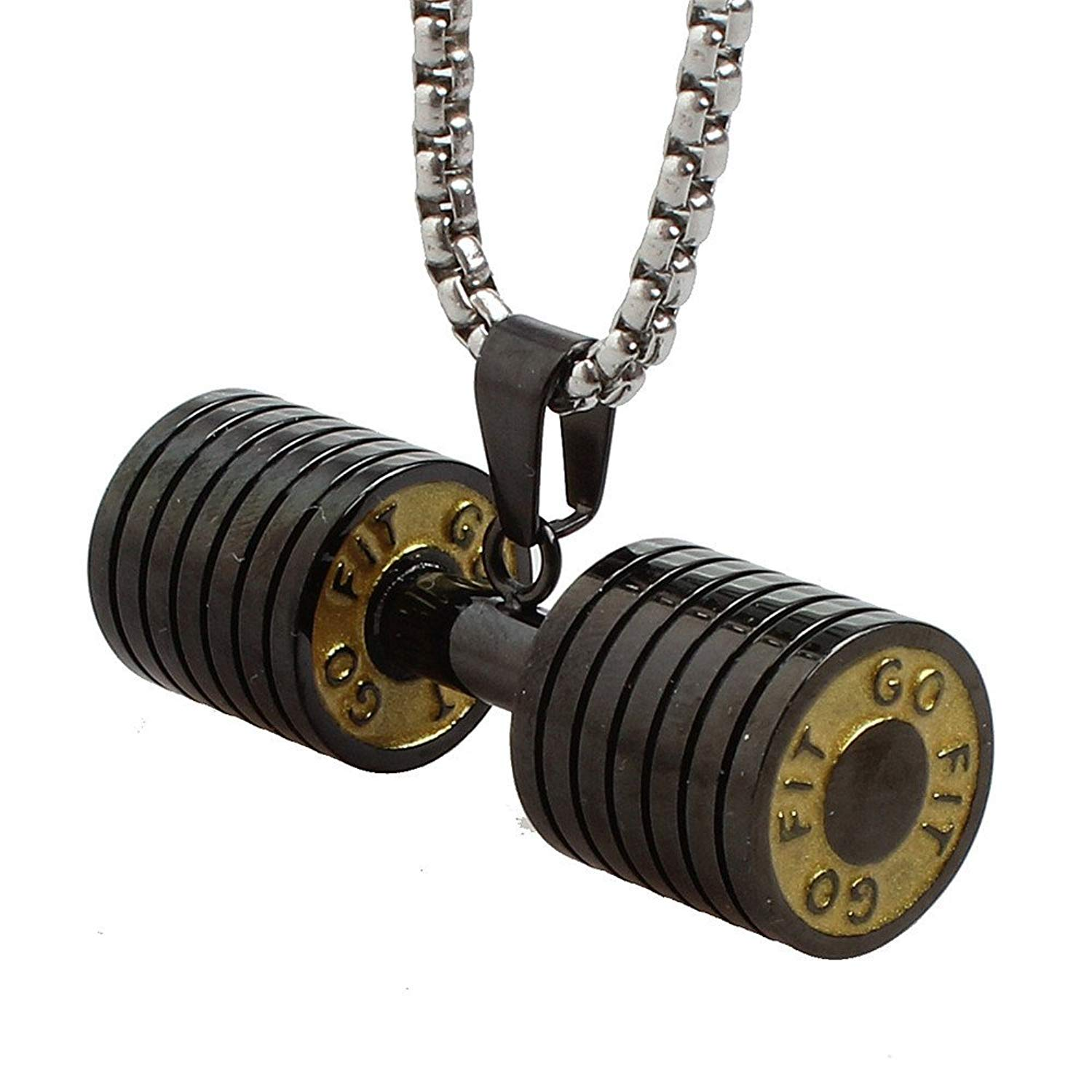 Free Weights Vs Barbell: Buy Dumbbell Necklace 18 Inch Chain Dumbbell Charm Barbell
