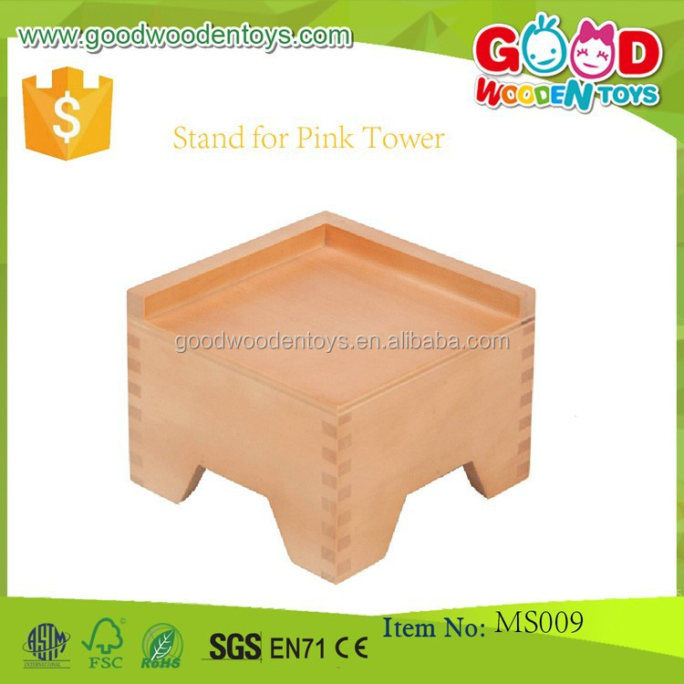Wooden Montessori Toys Tower Stand for Pink Tower