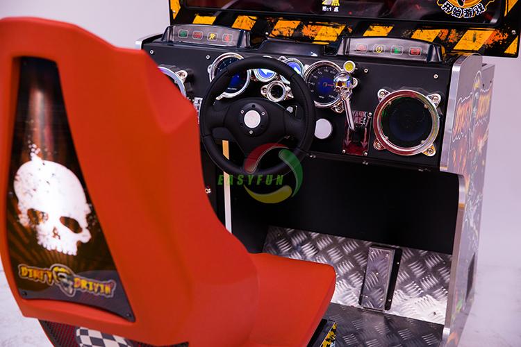 Hot kids simulator arcade dirty driven racing car arcade coin operated game machine