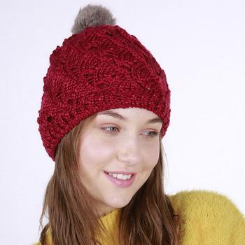 F-3345 new 2018 winter trending products sector sharpe beanie custom hat  rabbit fur pom 30d551872b3