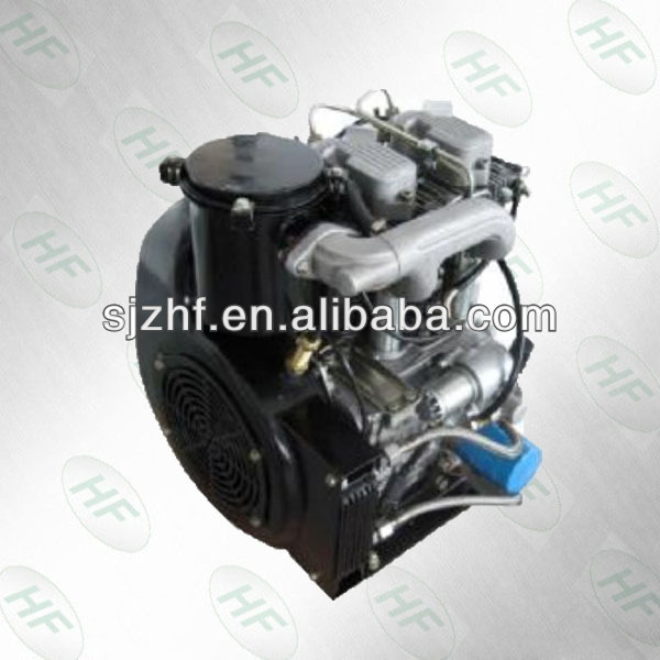 15hp 2 cylinder small diesel engine air cooled engine for farm machinery