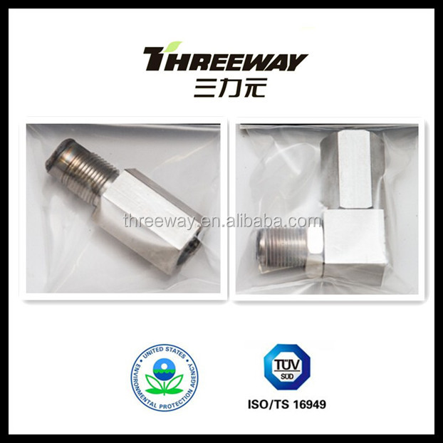 high quality 90 degree 180 degree mini catalytic converter oxygen sensor nut Euro IV
