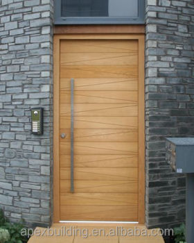 Hot sale modern solid oak doors used for villa exterior for Solid wood exterior doors for sale