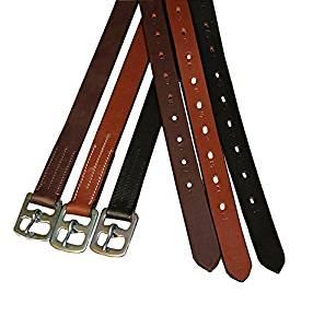 Derby Originals Premium English Stirrup Leathers, Adult, Havana
