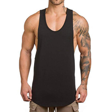 Uomini Muscle Gym Allenamento Stringer Canotte Body building Fitness T-Shirt