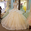 LS00058 new style ball gown wedding dress lace peplum luxury ball gowns plus size 2017