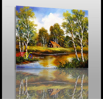 Beautiful Landscape Scenery Oil Painting On Canvas New Design Buy Oil Painting Landscape Japanese Nude Women Oil Painting Oil Painting Nude Woman