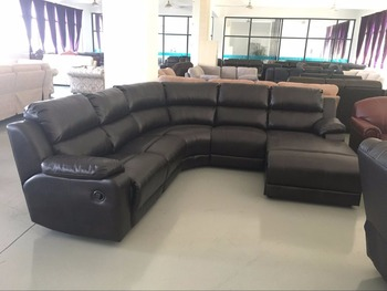 Latest Corner Sofa Design Recliner L Shaped Sofa With Corner Table ...
