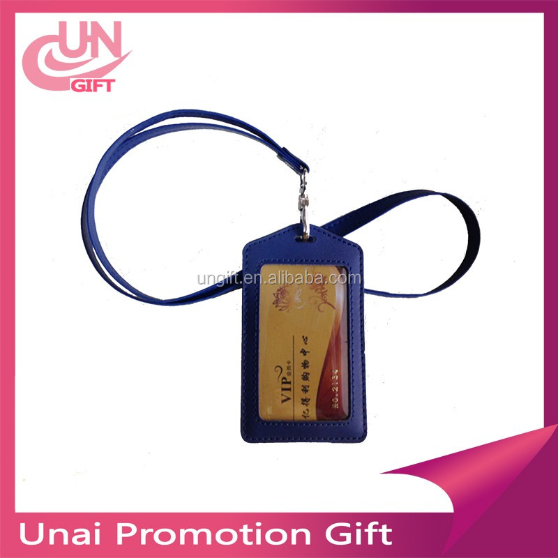 Men's Pu Leather Work Card Pocket Holders With Lanyard Low Price ...