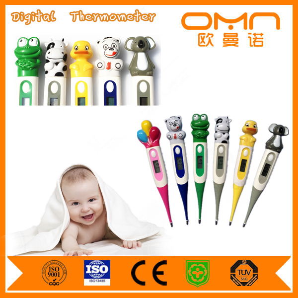 2 Years Warranty Fever Alarm Beeper on Function Animal Digital Thermometer/Baby cartoon Thermometer Digital