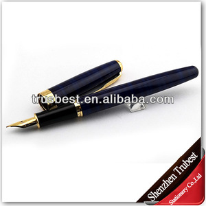 Best price metal embossed fountain pen for school office
