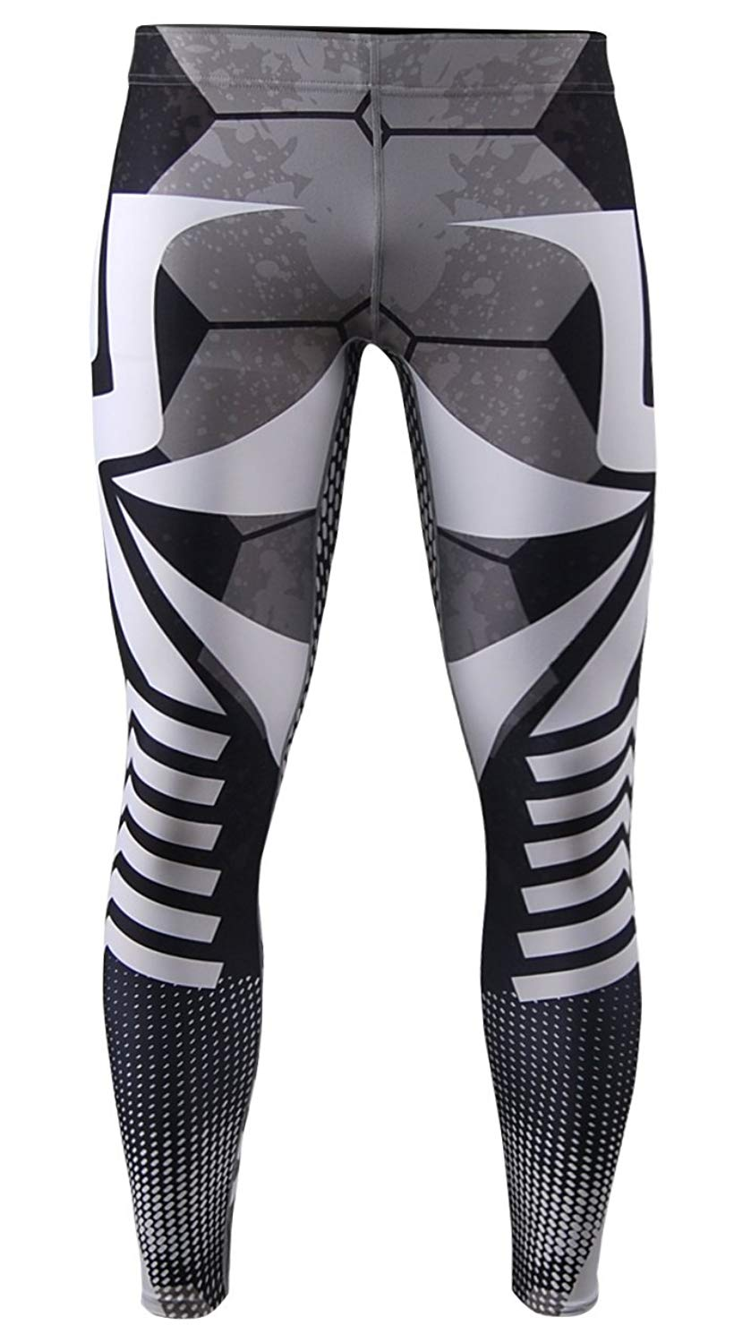8d20b28b88 Get Quotations · zipravs Mens Athletic Compression Base Layers Running  Exercise Fitness MMA Pants Tights