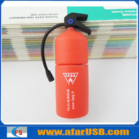 cartoon 3d customized fire extinguisher usb flash memory