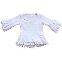 new style wholesale kids plain white cotton t-shirts