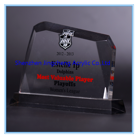Clear Acrylic Trophy StandTransparent Award