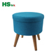 HStex wooden leg storage stool with folded