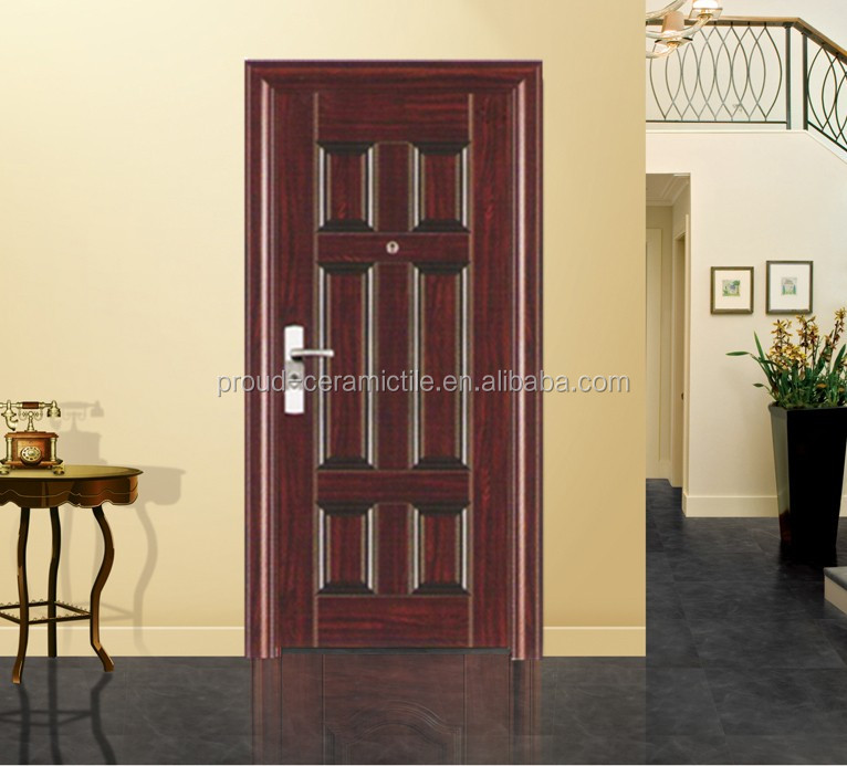 modern house cheap front door exterior security steel door design hy