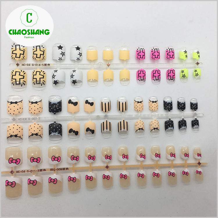 Kids Fake Nails - Buy Professional Printing Skull Children Nail Tips ...