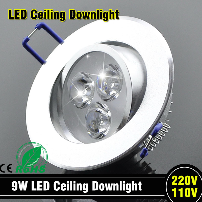 Wholesale 9W Ceiling Downlight Epistar LED Ceiling Lamp Recessed Spot Light