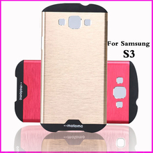 original case for samsung galaxy s3 s 3 aluminum case luxury brand back cover by metal mobile phone cases pink covers