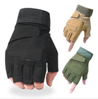 Military Tactical Gloves Half Finger Fingerless Gloves Airsoft Cycling Motorcycle Gloves#RG-06