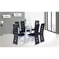 tempered glass good quality dining room table set
