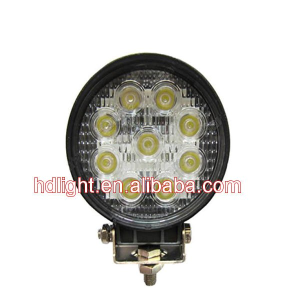 high power 27W LED work lamp Heavy Duty High-intensity Discharge HID Work Light For Car/SUV/Truck/ATV