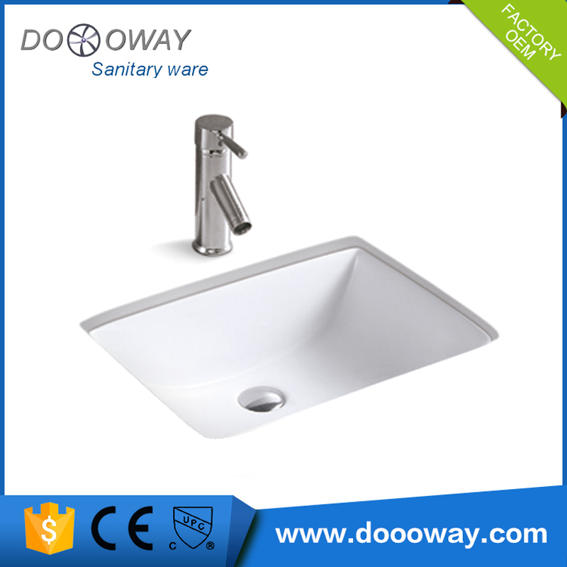 Oem top quality bathroom ceramic double rectangular vanity sink