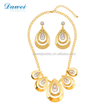 Ebay Online Shop Hot Selling 24k Gold Dubai Jewelry Set For Women