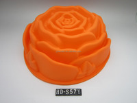 hot selling 2016 amazon Rose Flower Birthday Cake Bread Tart Flan Silicone Baking Mould Tin Bakeware