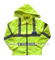 3 in 1 HI-Vis waterproof multifunation jacket with high reflective
