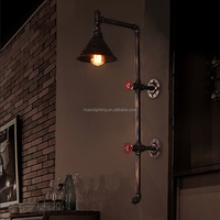 industrial water pipe wall light,wrought iron vintage wall lamp,indoor wall sconce decoration design