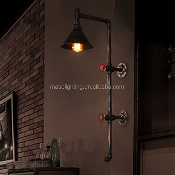 industrial wall lights. Industrial Water Pipe Wall Light,wrought Iron Vintage Lamp,indoor Sconce Decoration Lights