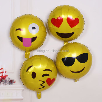 New Top Quality Birthday Party Decorations Emoji Balloon Emoji Party  Supplies For Foil Balloon For Wholesale - Buy Kids Birthday Party