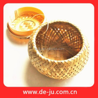 Specialty Provide Handmade Knit Natural Bamboo Basket Promotion Apple Basket