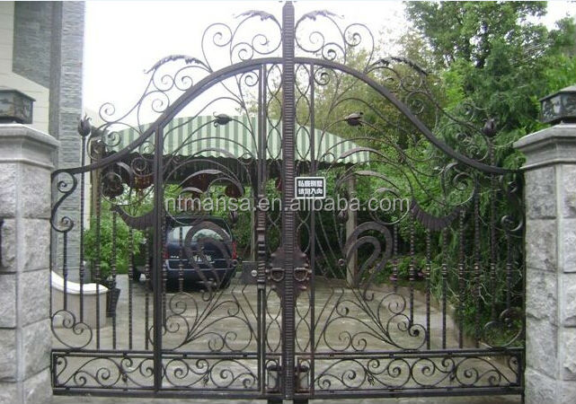 Antirust Garden Arch Wrought Iron Gate Designs Buy Iron Gate