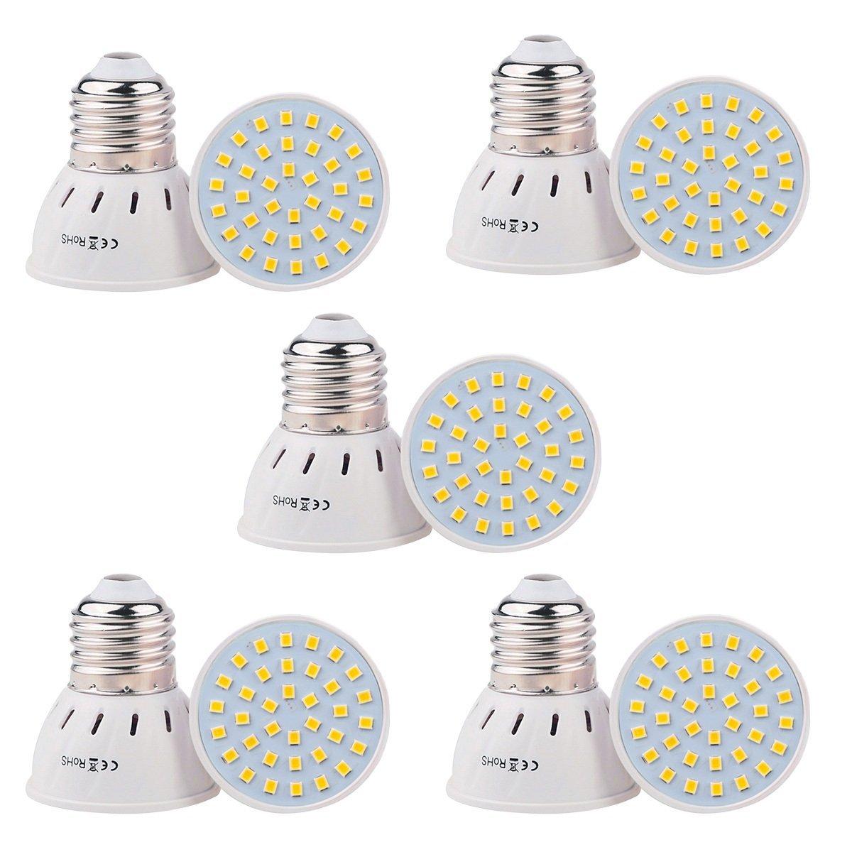 Good Lamp E27/E26 36LED 3W LED 2835SMD 200-300Lm Warm White Cool White Natural White LED Spotlight ( AC 110V/AC 220V/5PCS ) ( Color : Natural White , Size : 220V )