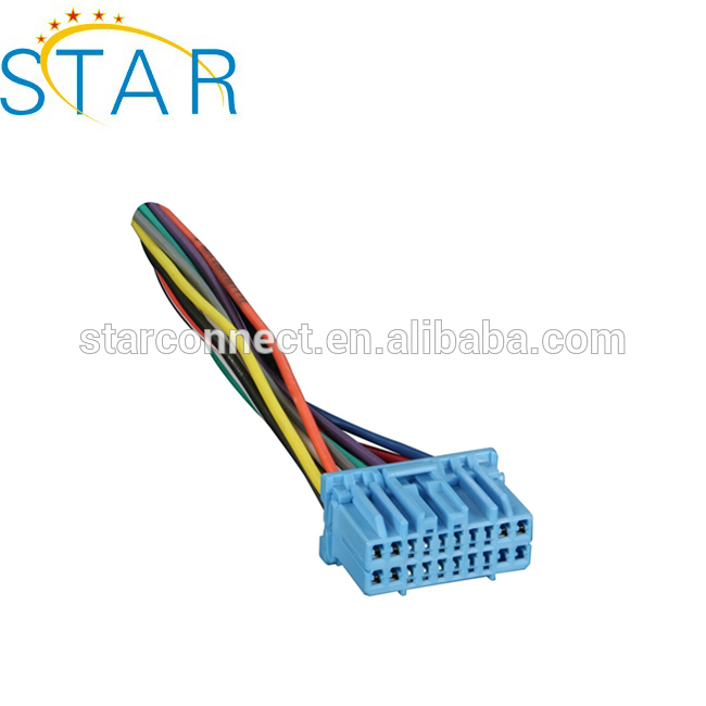 20 Pin Factory Radio Wiring Harness For 1998-up Hondas/acura Vehicles Radio Wiring Harness For on