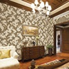 Classic luxury European Flower Design 3D Embossed Wallpaper PVC